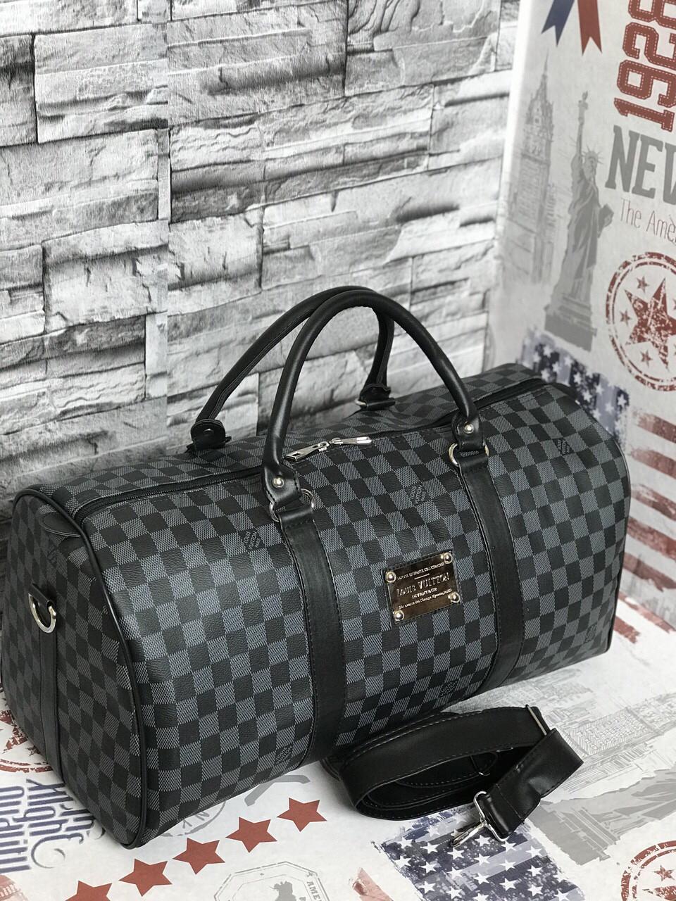 Дорожная сумка в клетку Louis Vuitton LV реплика Vintage grey