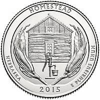 США 25 центов 2015, 26 Парк Национальный монумент Гомстед, штат Небраска