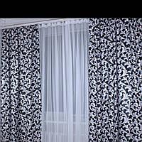 Плотные готовые шторы из ткани Блекаут Katrin