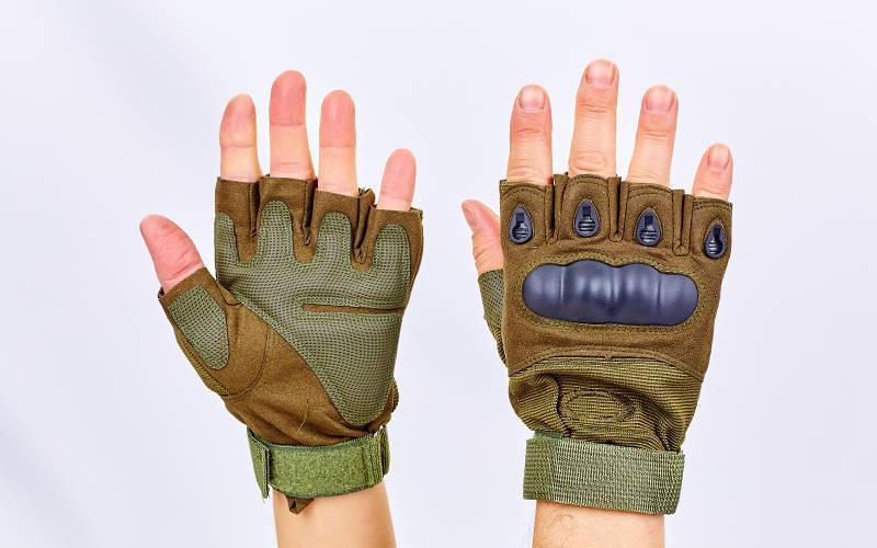 Перчатки тактические с открытыми пальцами и усил. протектор OAKLEY BC-4624-G