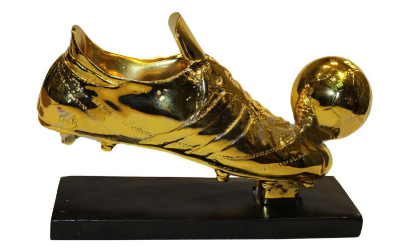 Статуэтка (фигурка) наградная спортивная Футбол Бутса с мячем золотая C-1346-B2 (р-р 21х7,5х15см)