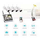 """Комплект WiFi видеонаблюдения Anran 4сh + 12"""" LCD (AR-B360), фото 8"""