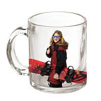 Фото на прозрачной чашке