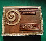 Кожаный блокнот ежедневник ручной работы винтажный индивидуальный заказ ежедневник кожаный с надписью., фото 3