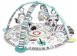 Развивающий коврик для ребенка с игрушками Lionelo Paula