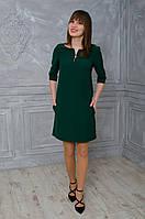 Нарядное женское платье зеленого цвета
