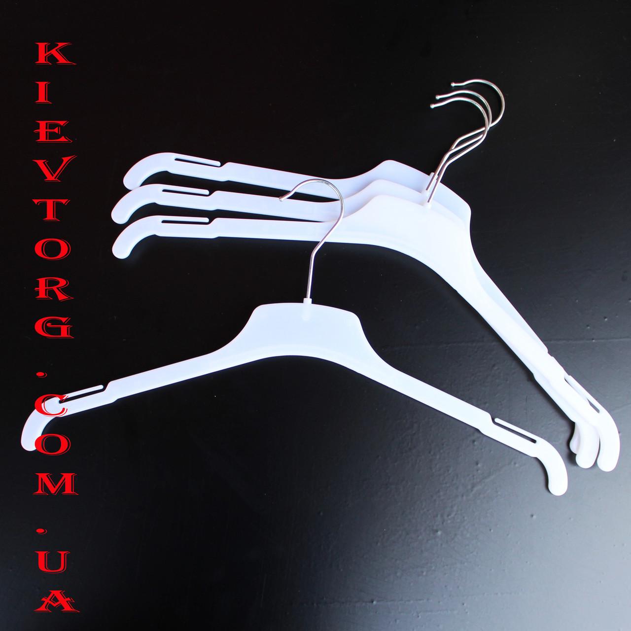 Плечики вешалки белые для легкой одежды 38 см 42 см