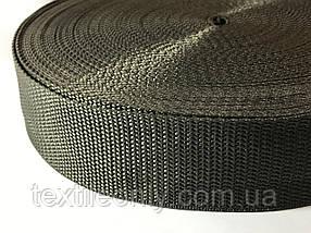 Тасьма сумочная щільна колір темний хакі 40 мм