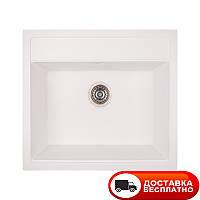 Гранитная мойка Apell Pietra Plus PTPL560GW TOTAL WHITE 56*51