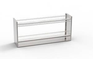 Полка-сушка для тарелок 2-х уровневая 1200х300х350 KV