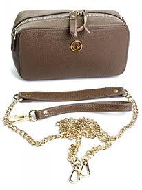 Женский клатч кожаный Case NO-A8845 хаки