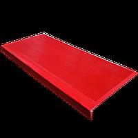 Противоскользящая резиновая накладка на ступени 750х330 мм (КРАСНАЯ)