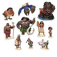 Фигурки принцессы Моаны и Мауи 10 штук