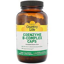 """Коэнзим В-комплекс Country Life """"Coenzyme B-Complex"""" кофермент (240 веганских капсул)"""