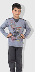 Детская пижама для мальчика Race серая/тсер (OZTAS, Турция)