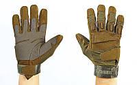 Перчатки тактические с закрытыми пальцами BLACKHAWK BC-4468-G (р-р L-XL, оливковый) КодBC-4468-G