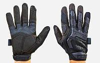 Перчатки тактические с закрытыми пальцами MECHANIX MPACT BC-5622-BK (р-р M-XL, черный) КодBC-5622-BK