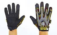 Перчатки тактические с закрытыми пальцами MECHANIX WEAR BC-4699-HG (р-р L-XL, камуфляж Woodland) КодBC-4699-HG