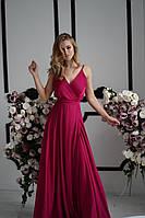 Длинное красивое вечернее платье с открытыми плечами (XS, M)