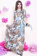 Красивое женское платье со змеиным принтом, фото 1