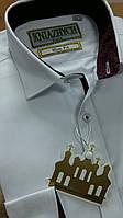 Белая рубашка с длинным рукавом для мальчика (116-170р)
