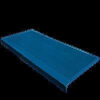 Противоскользящая резиновая накладка на ступени 750х330 мм (СИНЯЯ)