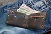 Мужской кожаный кошелек на заклепках, фото 2