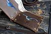 Мужской кожаный кошелек на заклепках, фото 3