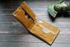 Мужской кожаный кошелек на металлических заклепках, светло-коричневый, фото 2