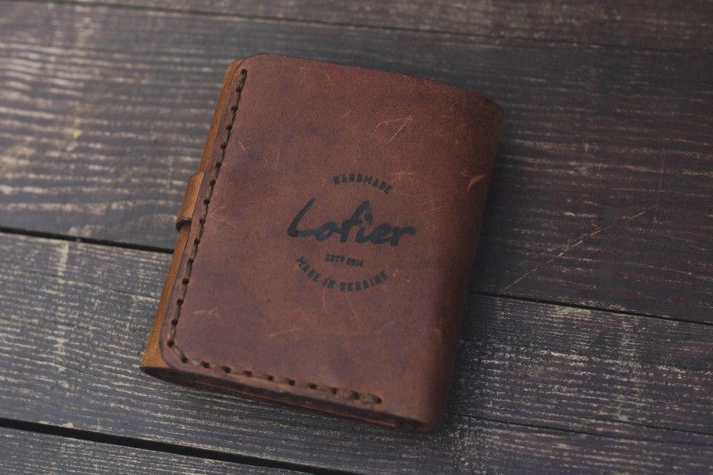 Мужской кожаный кошелек mod.Lotier, корчневый