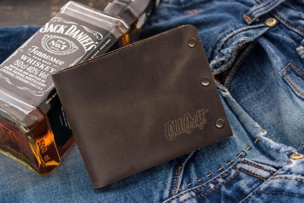 Мужской кожаный кошелек Grange, коричневый