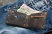 Мужской кожаный кошелек Grange, коричневый, фото 7