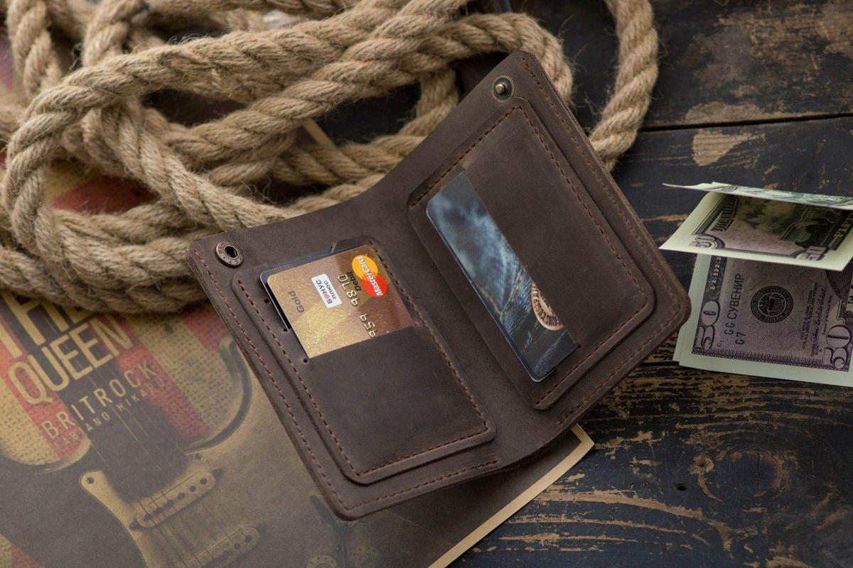 Кожаный кошелек портмоне NewYorker, коричневый