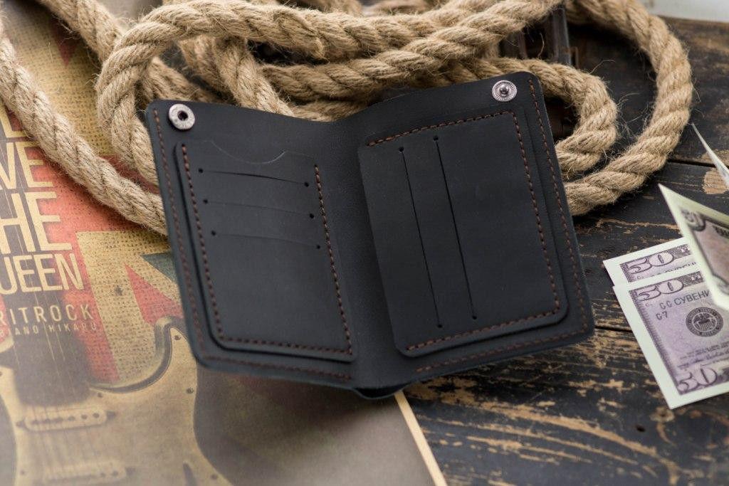 Кожаный кошелек портмоне NewYorker, черный