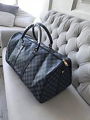 Сумка мужская Louis Vuitton LV  в клетку Black реплика