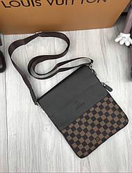 Сумка мужская на плечо в стиле Louis Vuitton LV brown