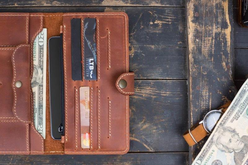 Портмоне клатч мужской Long Wallet MenStuff brown