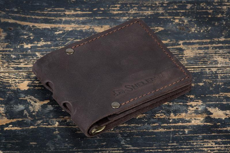 Зажим для денег кожаный Stayer brown