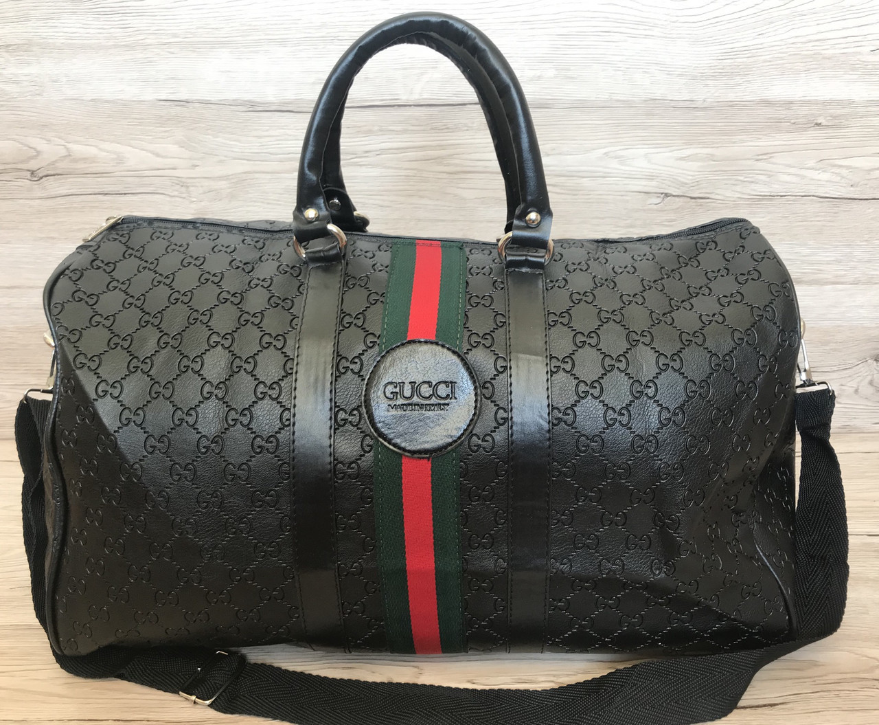 Сумка  спортивная Gucci дорожная (реплика) Black