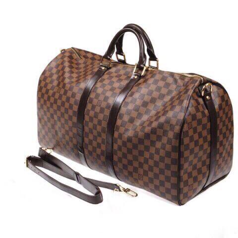 Сумка дорожная ручная кладь Louis Vuitton LV  Brown  (Луи витон реплика )
