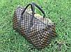 Сумка ручная кладь дорожная Louis Vuitton LV в клетку Brown (реплика), фото 2
