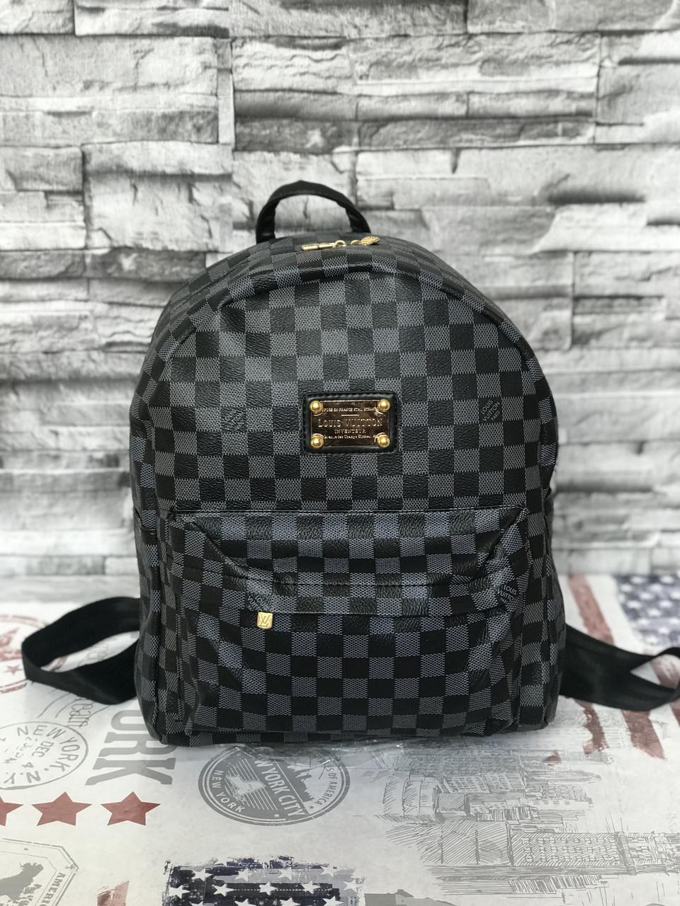 Рюкзак ранец портфель LV Louis Vuitton  (реплика Луи Витон) black