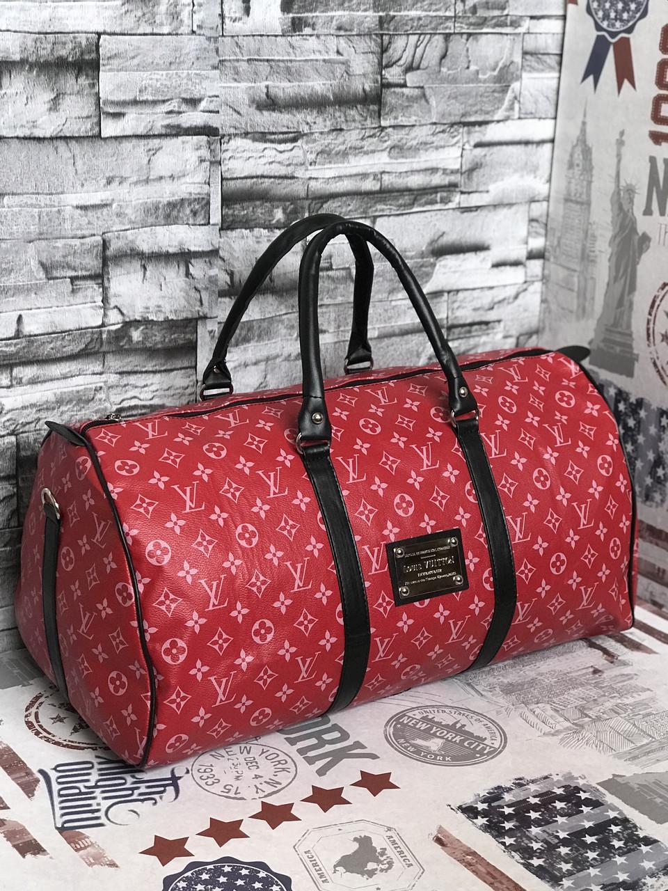 Дорожная Сумка  Louis Vuitton LV  red (люкс реплика)
