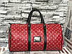Дорожная Сумка  Louis Vuitton LV  red (люкс реплика), фото 3