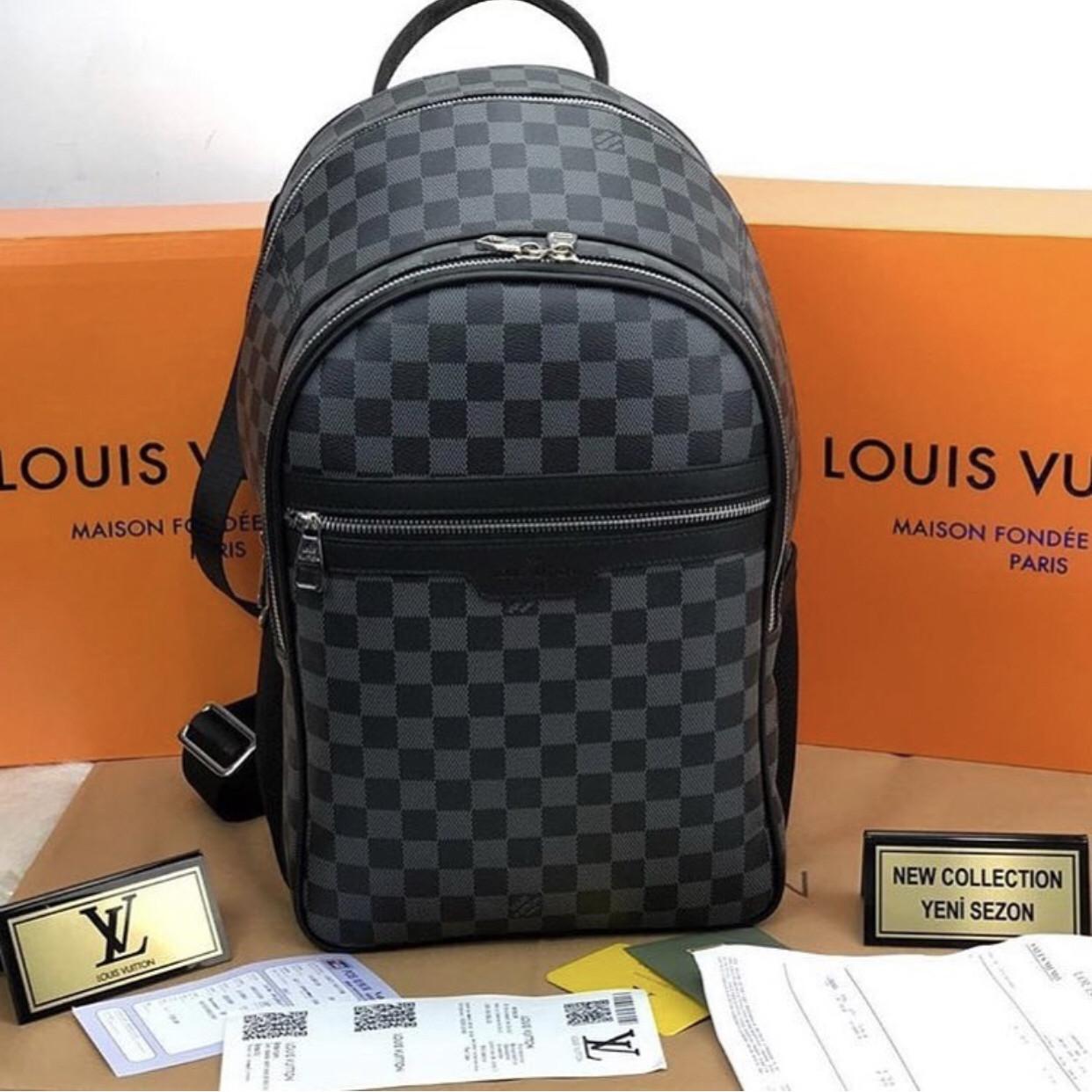 Рюкзак портфель ранец  ручная кладь LV Louis Vuitton люкс (реплика Луи Витон) Brown
