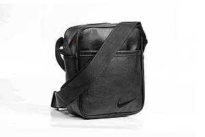 Мужская кожаная PU сумка через плечо мессенджер Nike размер XL