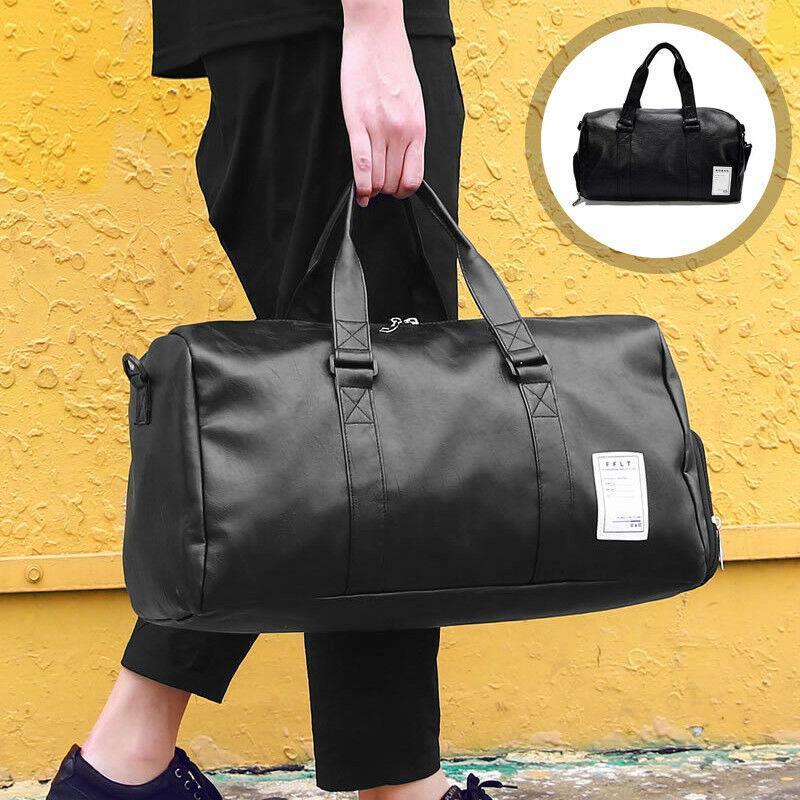 Мужская кожаная сумка T3 BAG черная
