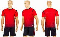 Футбольная форма Brill CO-16004-R (PL, р-р S-2XL-42-52, рост 160-185см, красный, шорты черные) КодCO-16004-R