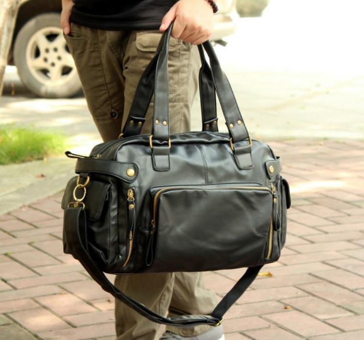 Мужская черная кожаная сумка mod.Foster