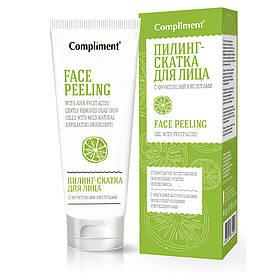Пилинг-скатка для лица с фруктовыми кислотами, тонизирующая Compliment 80 мл.